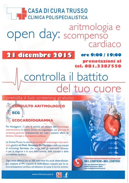 OPEN DAY: Aritmologia e Scompenso Cardiaco