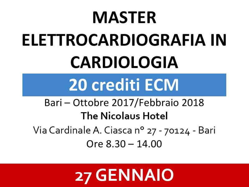 Master Elettrocardiografia in Cardiologia - Bari